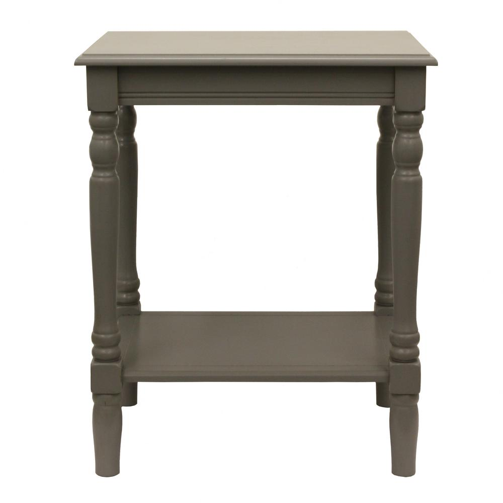 Best Decor Therapy Simplify Edge Gray End Table Fr1862 The This Month