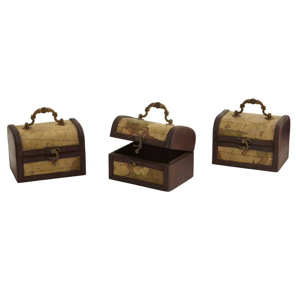 Best Nearly Natural Decorative Trunk Chests With Map Design This Month