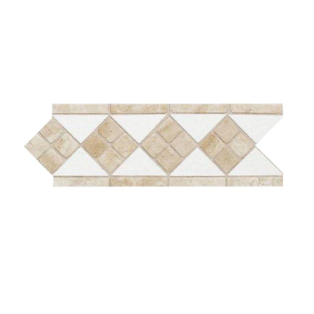 Best Daltile Fashion Accents Travertine Arctic White 4 In X 12 This Month