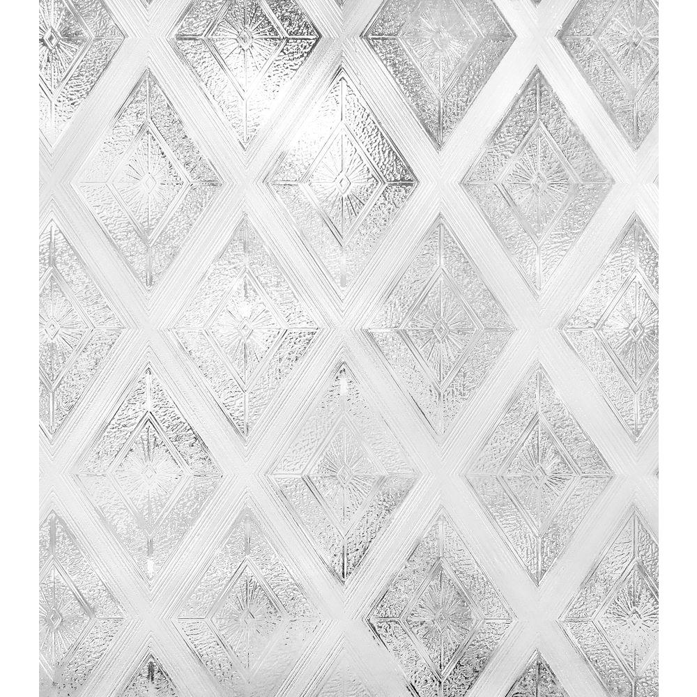 Best Artscape 24 In W X 36 In H Diamond Glass Decorative This Month