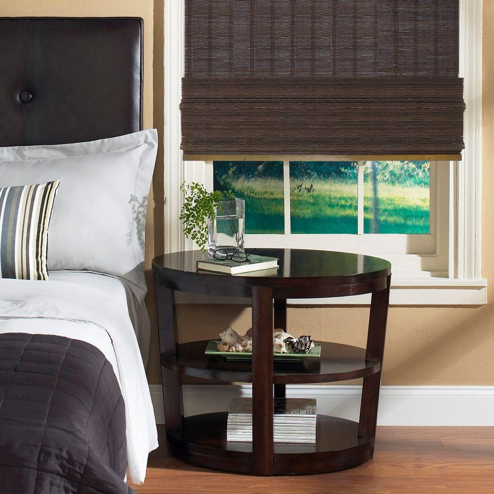 Best Home Decorators Collection Espresso Fine Weave Bamboo This Month