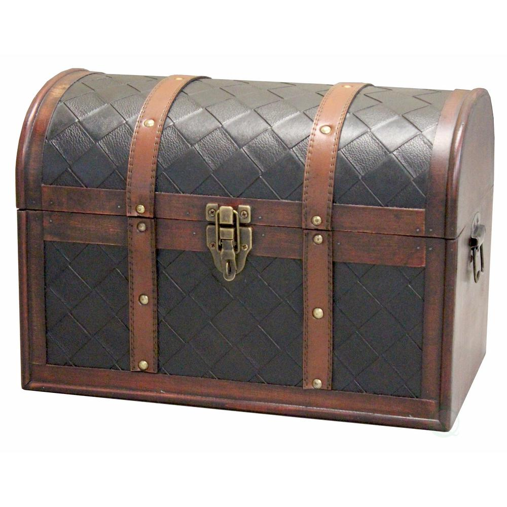 Best Vintiquewise Decorative Brown Storage Trunk With Lockable This Month