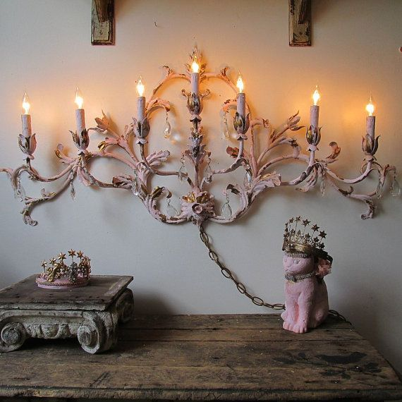 Best Large Electric Sconce Lighting French Cottage Chic Tole This Month