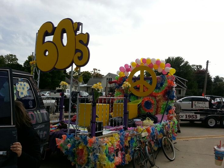 Best 60 S Theme Parade Float Complete With To 60 S Bicycles This Month