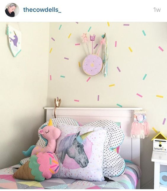 Best Sprinkle Decals And Pretty Pastels Unicorn Bedroom This Month