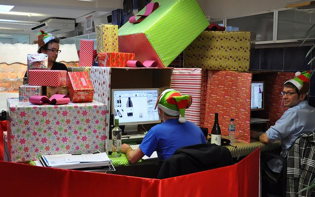 Best Christmas Desk Decoration Competition See Other Awesome This Month