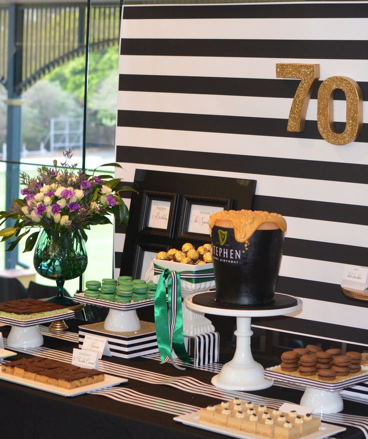 Best 70Th Birthday Dessert Table Guinness Theme Style My This Month