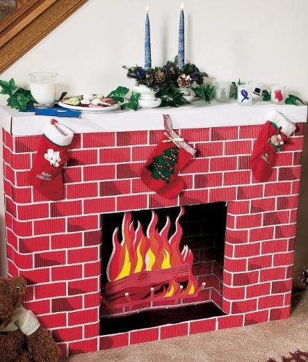 Best Nostalgic Fireplace 3D Cardboard Kit Create Your Own This Month