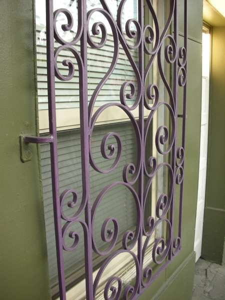 Best Painted Security Bars Bar Wrought Iron And Window This Month