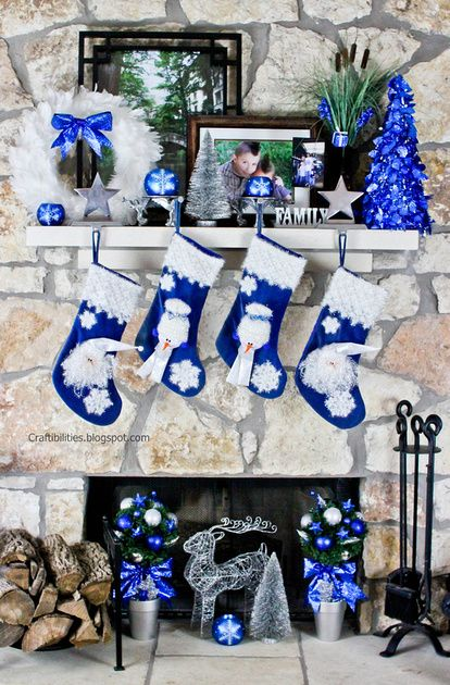Best 25 Blue Christmas Decor Ideas On Pinterest Blue This Month