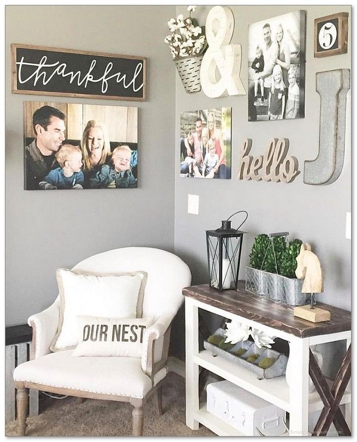 Best 99 Diy Farmhouse Living Room Wall Decor And Design Ideas This Month