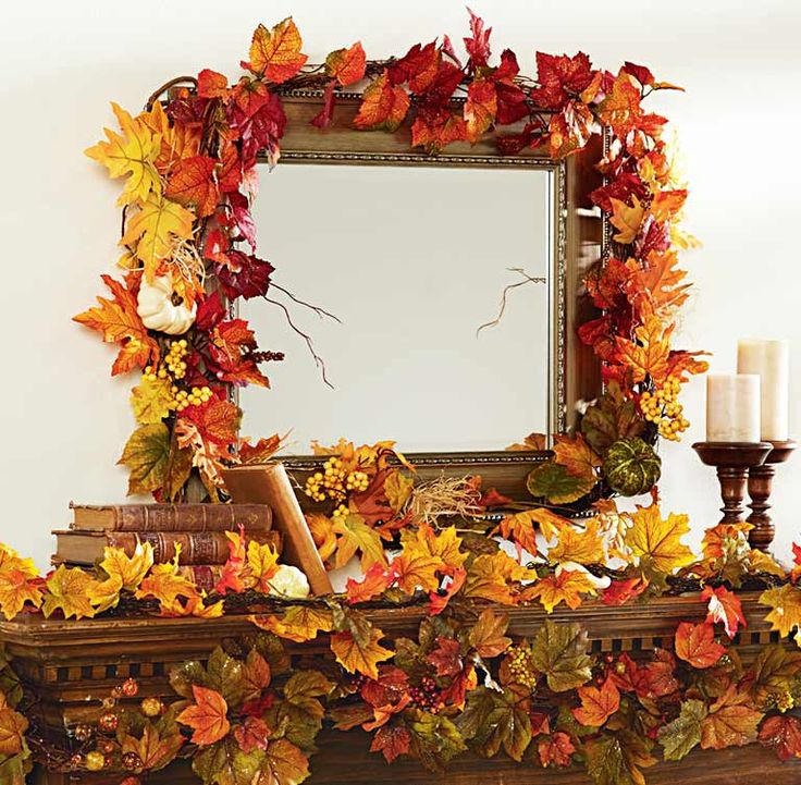 Best Decorate For Fall By Adding An Autumn Leaf Garland To This Month