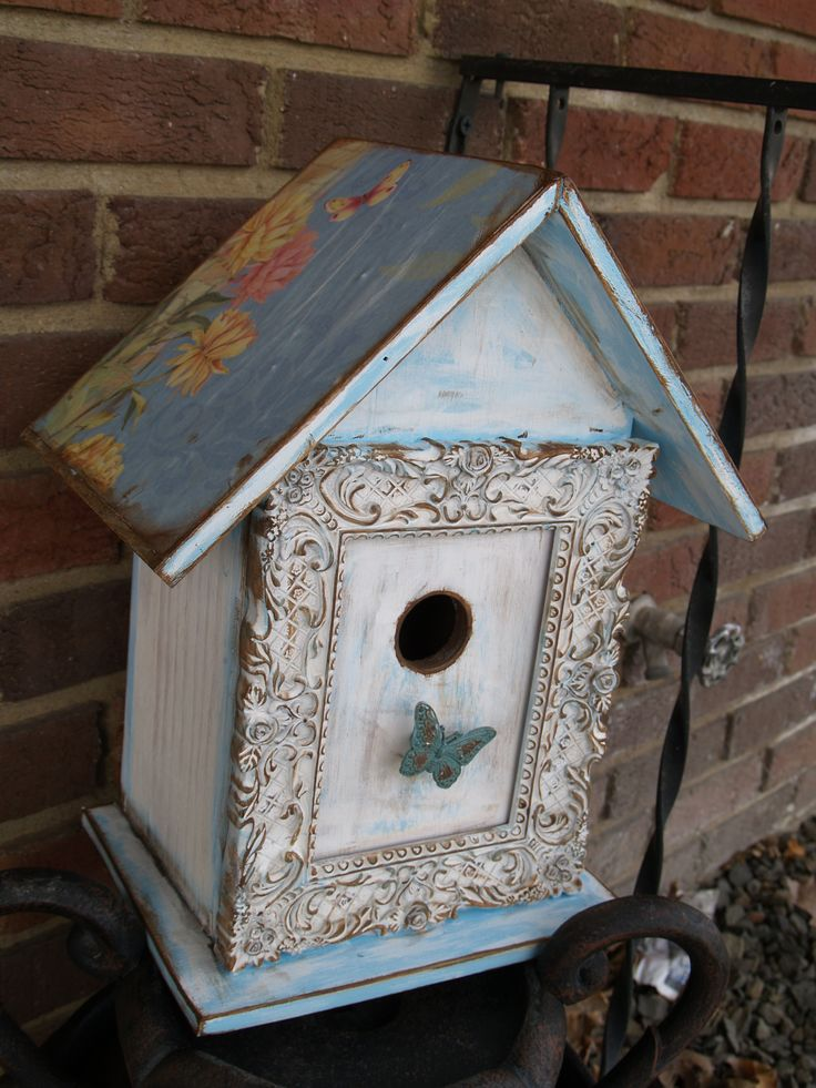 Best 25 Shabby Chic Birdhouse Ideas On Pinterest This Month