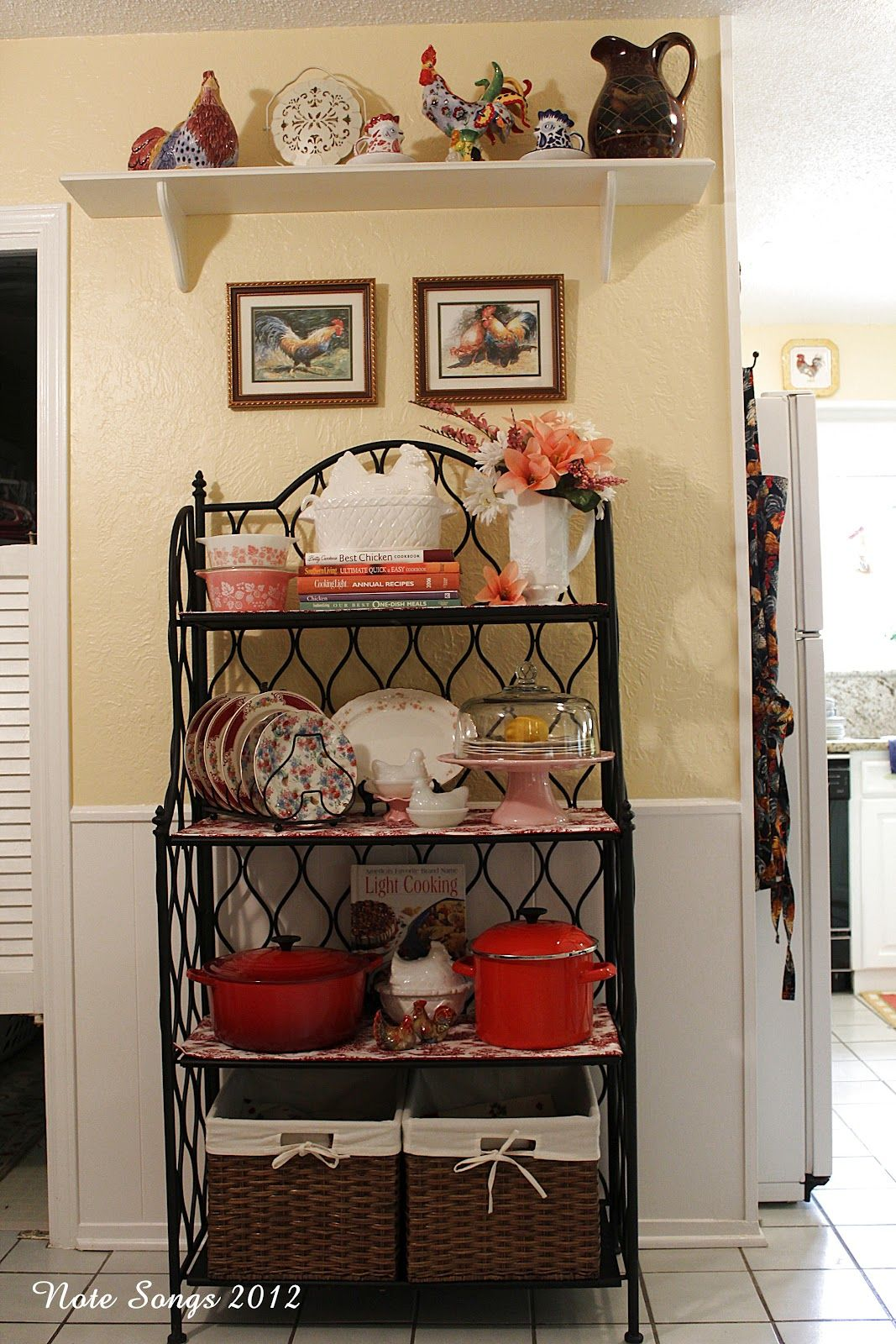 Best How To Decorate A Baker S Rack Here It Is All Dusted And This Month