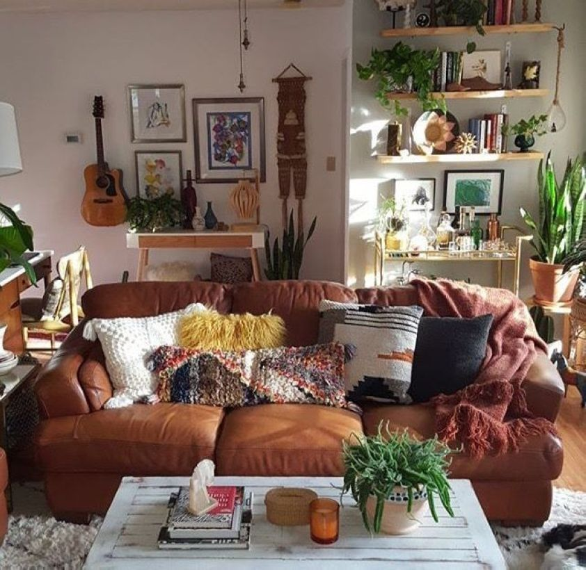 Best 47 Romantic Bohemian Style Living Room Design Ideas This Month