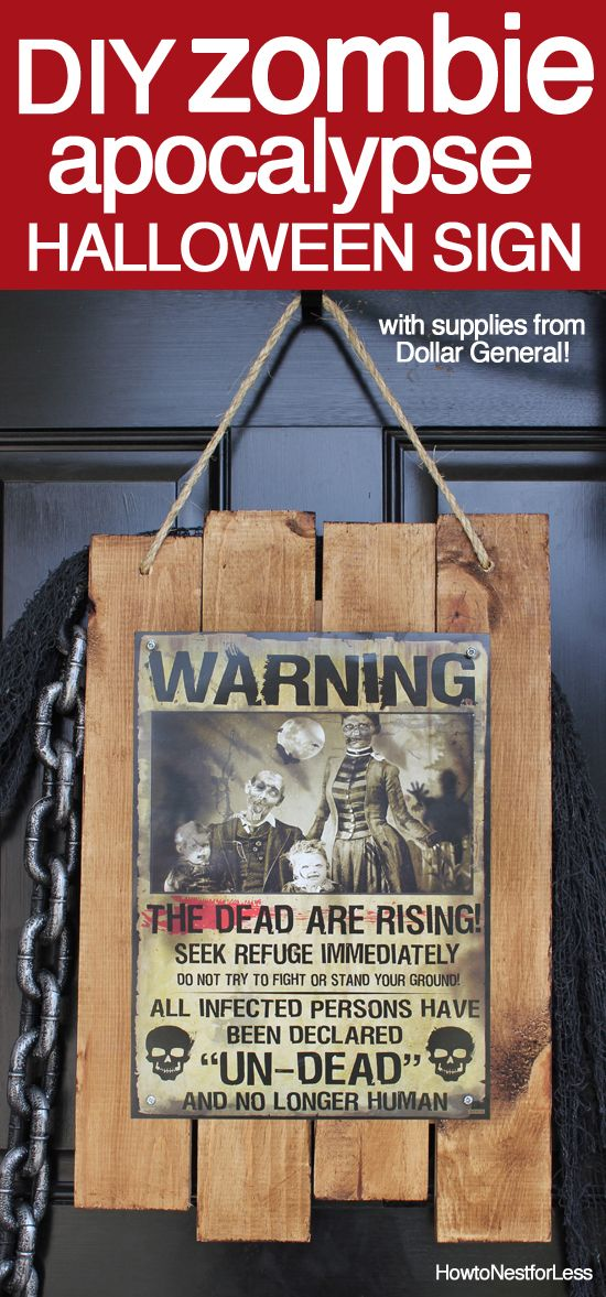 Best Zombie Apocalypse Sign Halloween Front Porch Diy Ideas This Month