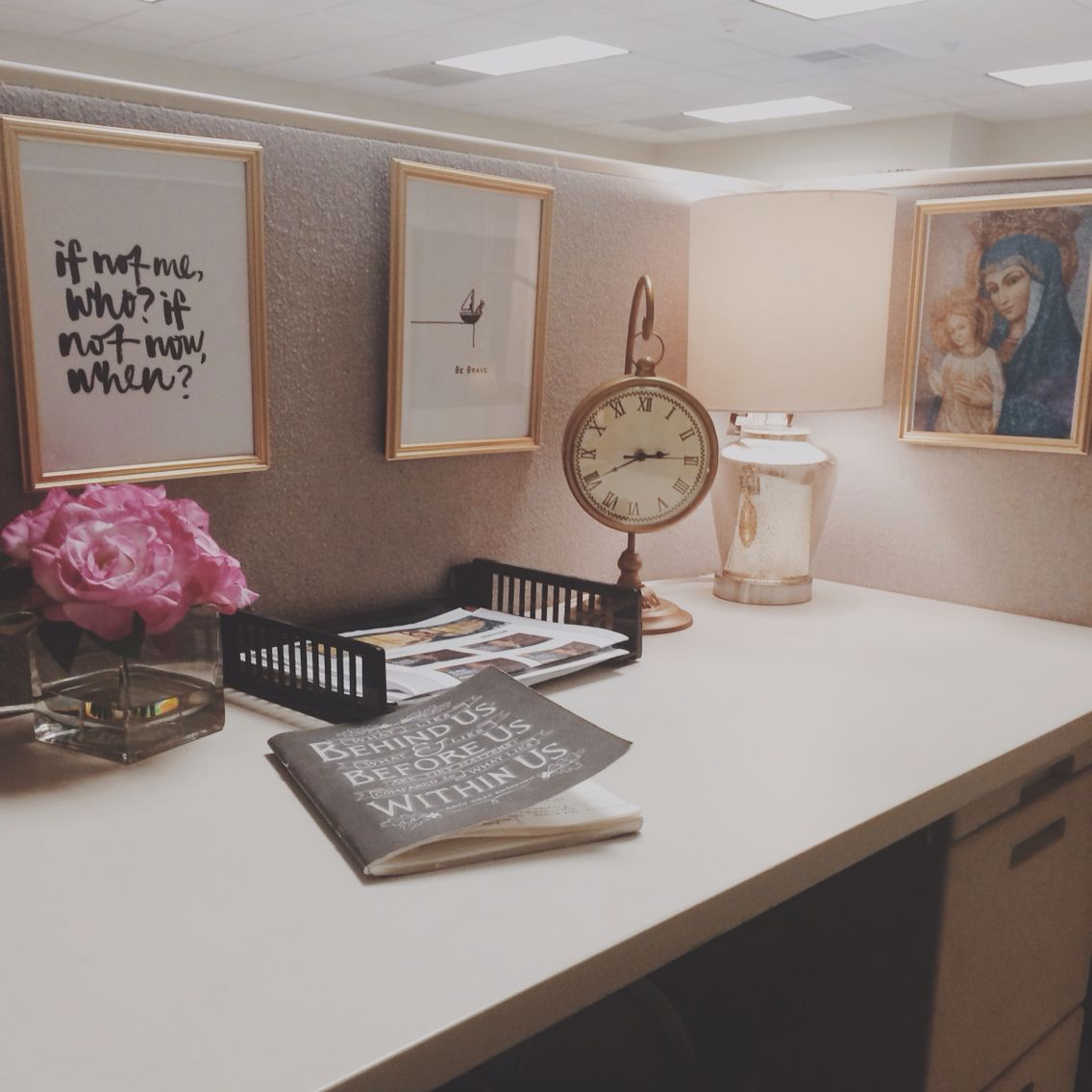 Best Cubicle Makeover … For The Office ♡ In 2019 Work Desk This Month