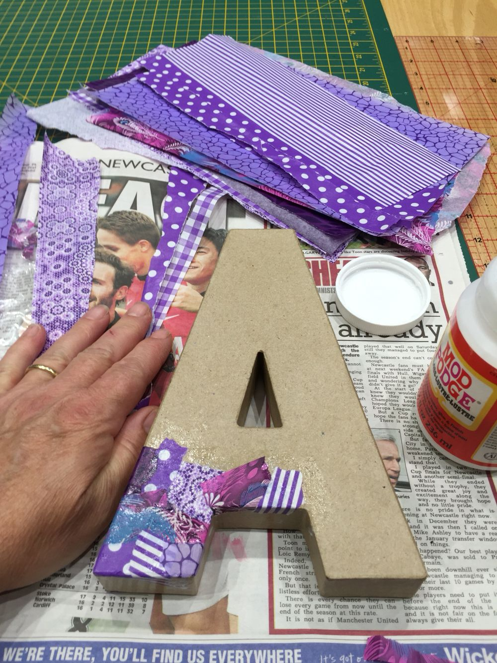 Best Decoupage On A Cardboard 3D Letter A Diy Home Decor This Month