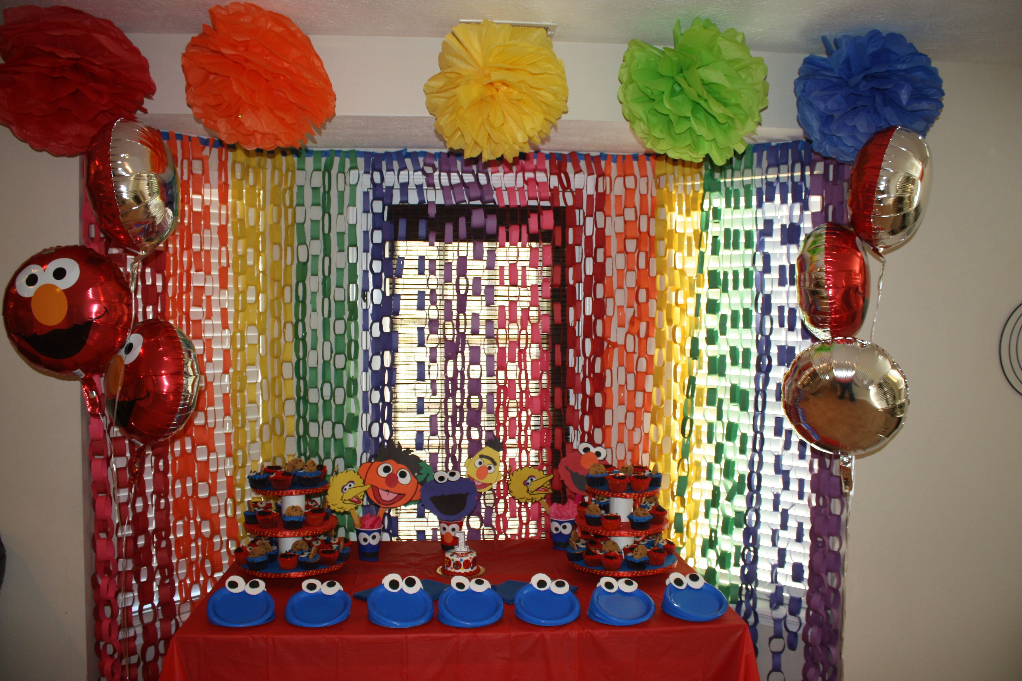 Best Home Made Decorations For An Elmo Sesame Street Themed This Month