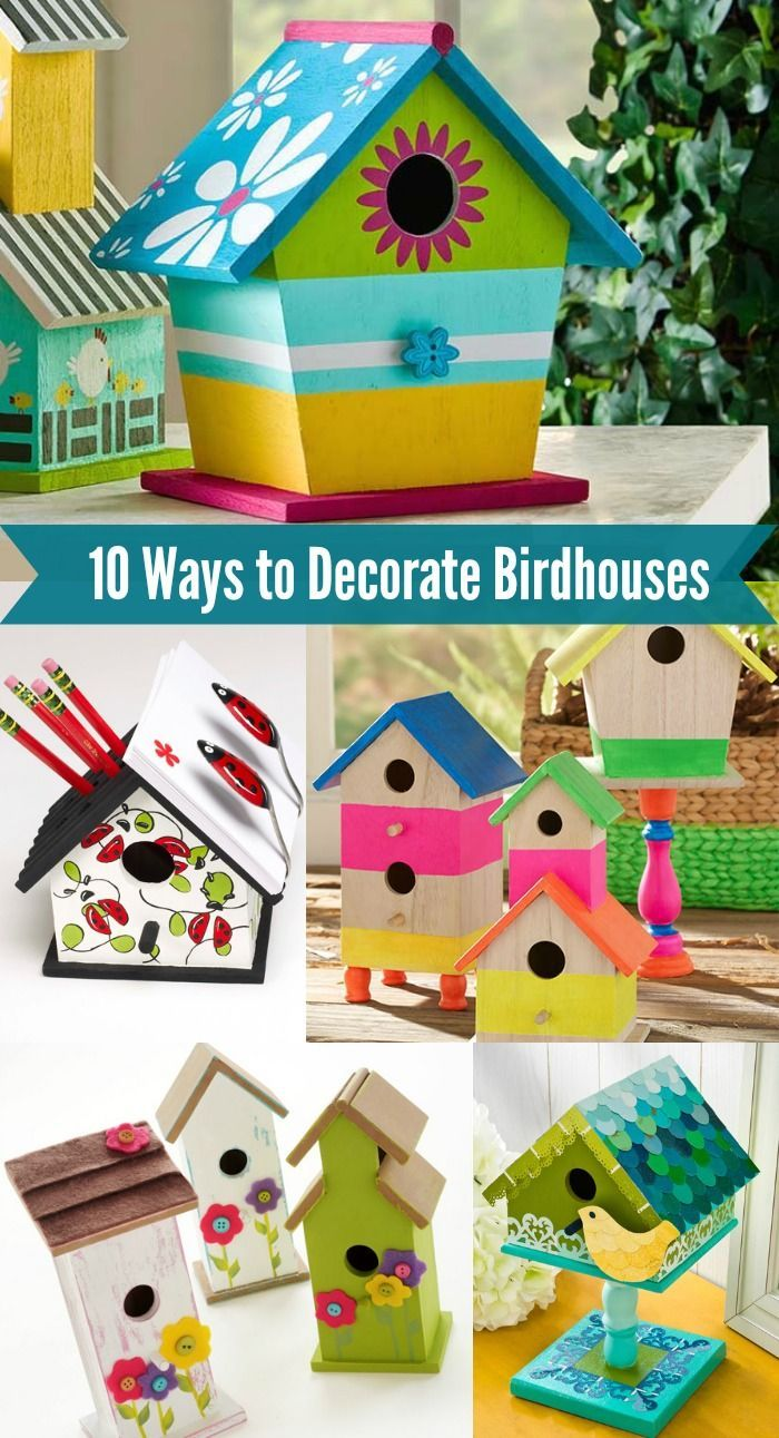 Best 10 Fun Ways To Decorate Wood Birdhouses Craft Diy This Month