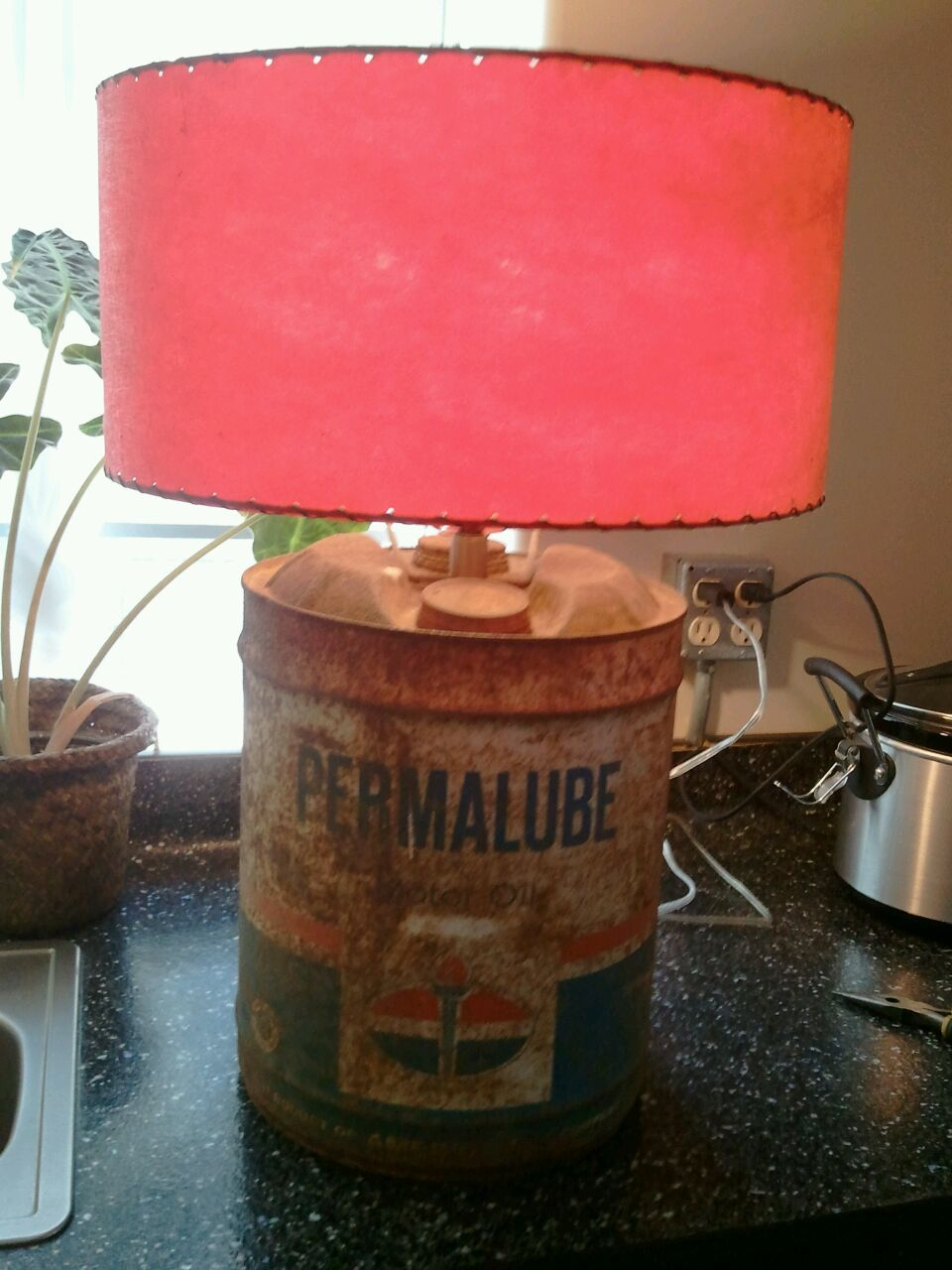 Best Reclaimed An Old Oil Can And Made A Simple Lamp Out Of It This Month