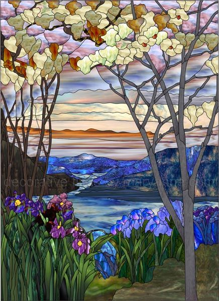 Best Decorative Window Film Stained Glass Magnolia And Irises This Month