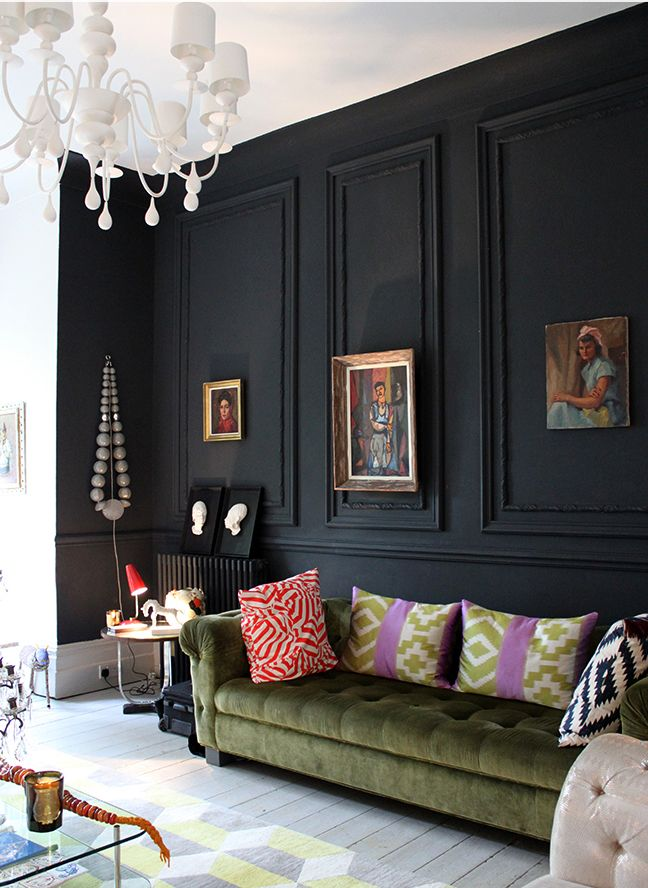 Best 28 Ideas For Black Wall Interiors How To Style Them This Month