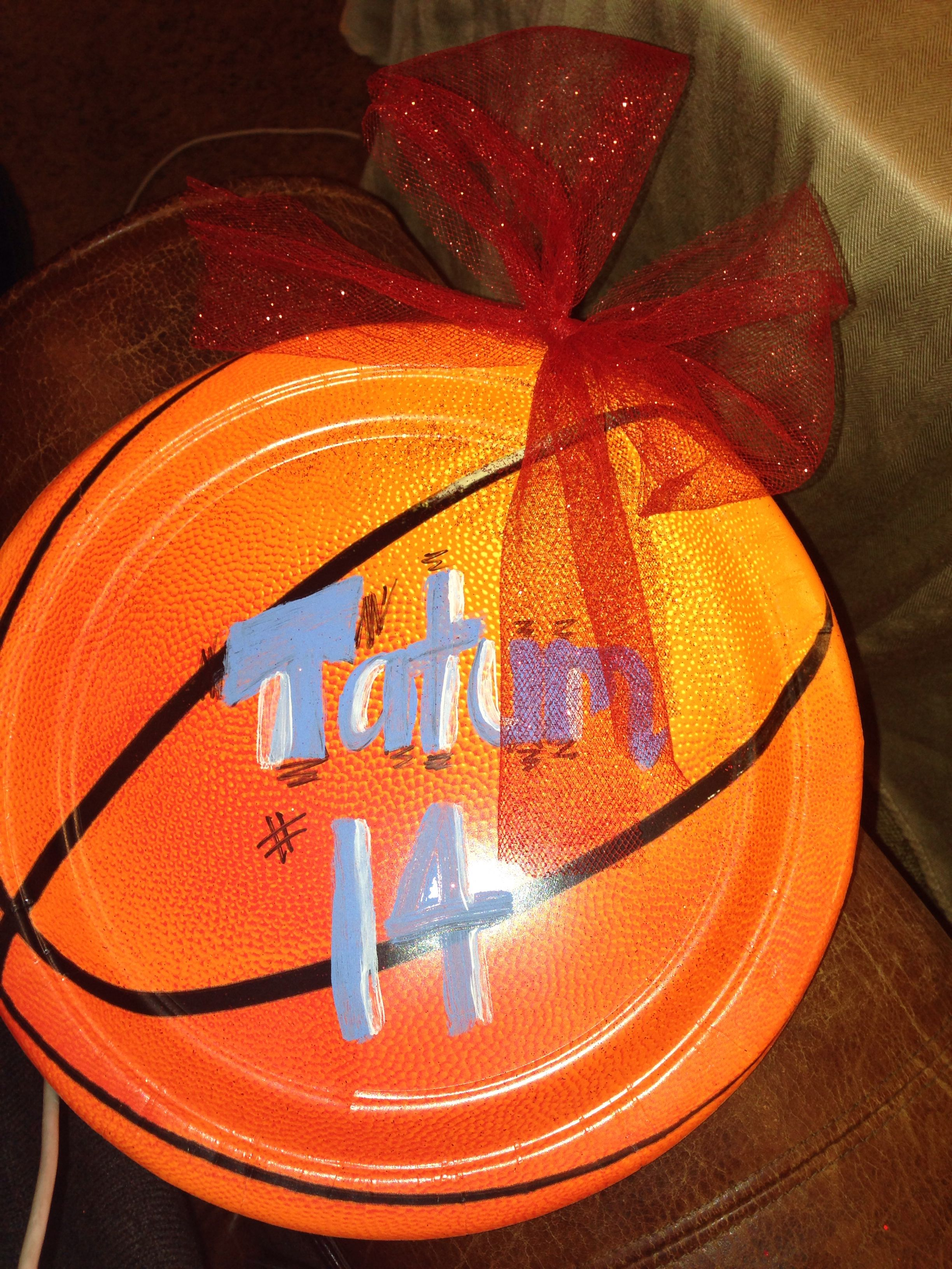 Best Basketball Paper Plates For Locker Signs Easy Basketball This Month