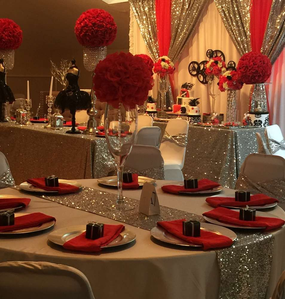 Best Lovely Table At A Hollywood Quinceañera Birthday Party This Month