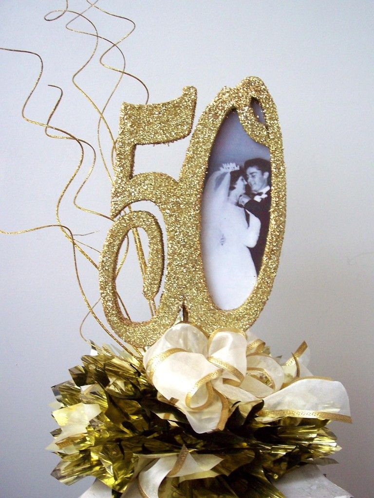 Best 50Th Centerpiece With Picture Bow 50Th Anniversary Ideas This Month