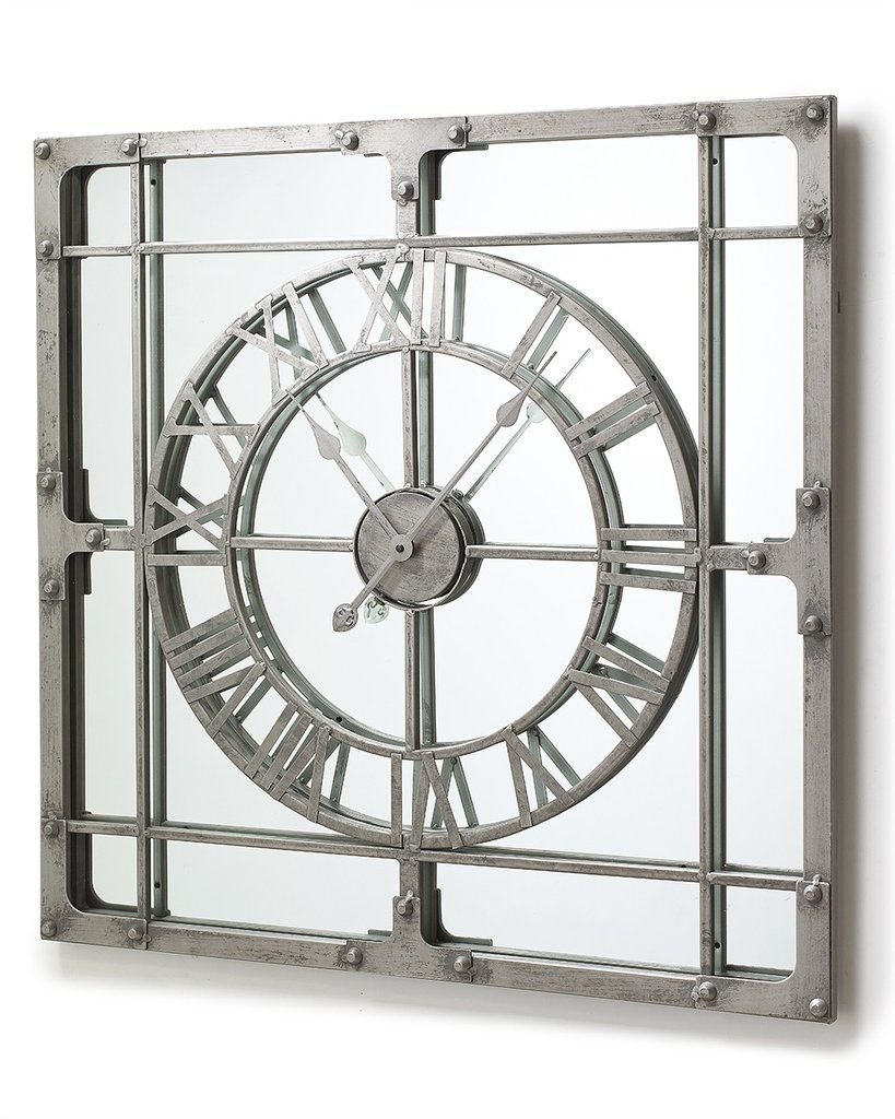 Best Mirrordeco Com — Mirror Wall Clock Extra Large H 77Cm This Month