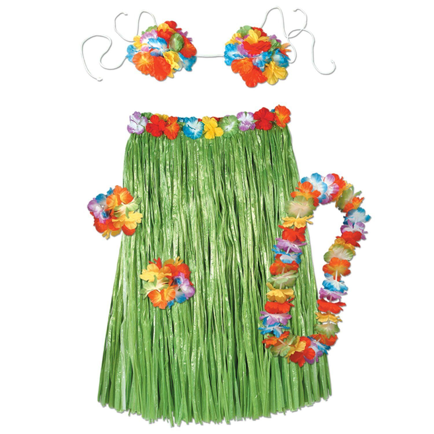 Best Luau Party *D*Lt Complete Hula 5 Piece Outfit 6 Case In This Month
