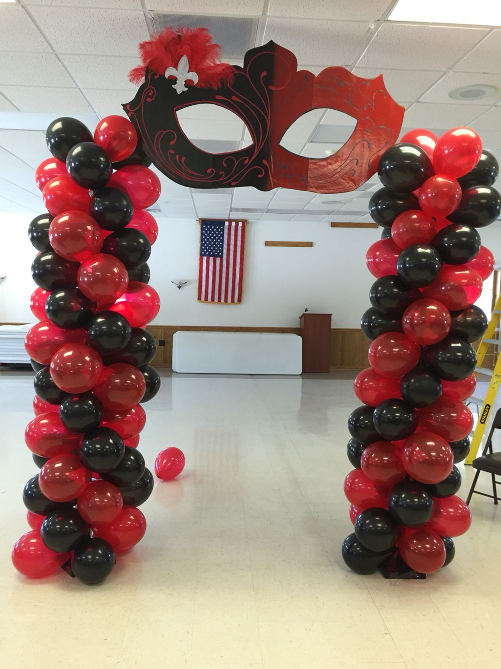 Best Sweet Sixteen Mascarade Ball Themed Balloon Archway This Month