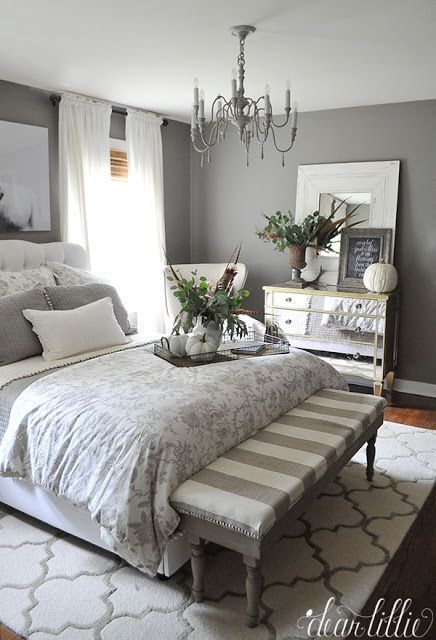 Best Stunning Fall Bedroom In Gray And Neutrals With Natural This Month