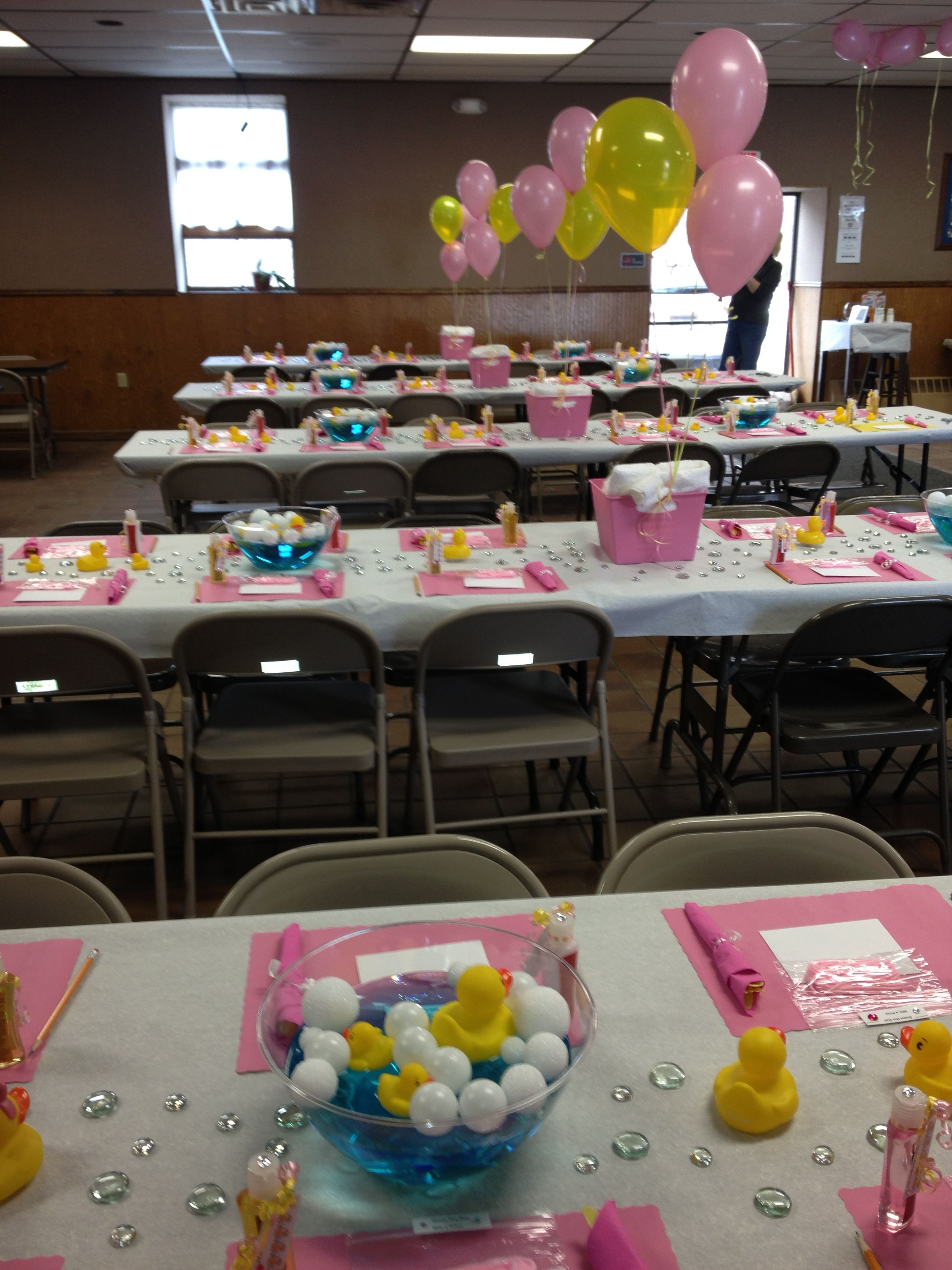 Best Baby Shower Table Decoration Ducks Pink Yellow Baby Girl This Month