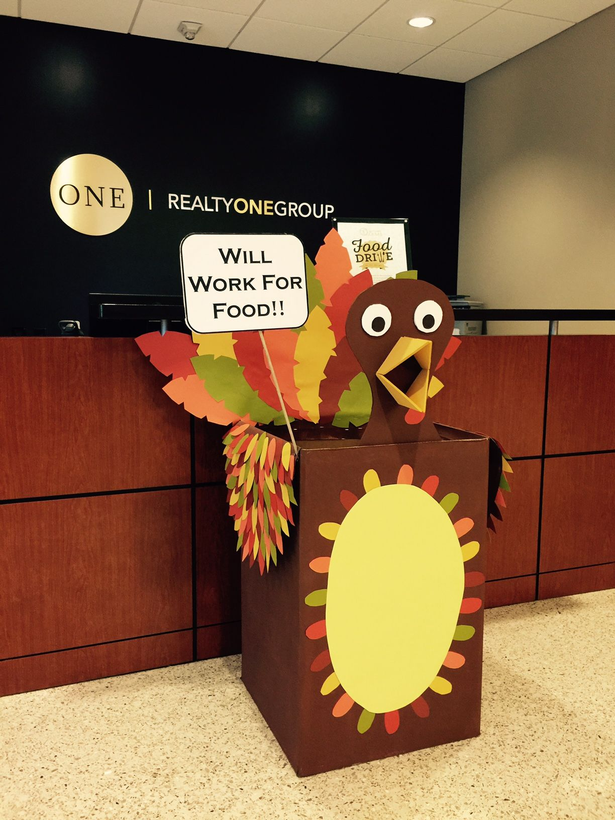 Best Foster The Food Drive Turkey Decorated Food Drive Box This Month