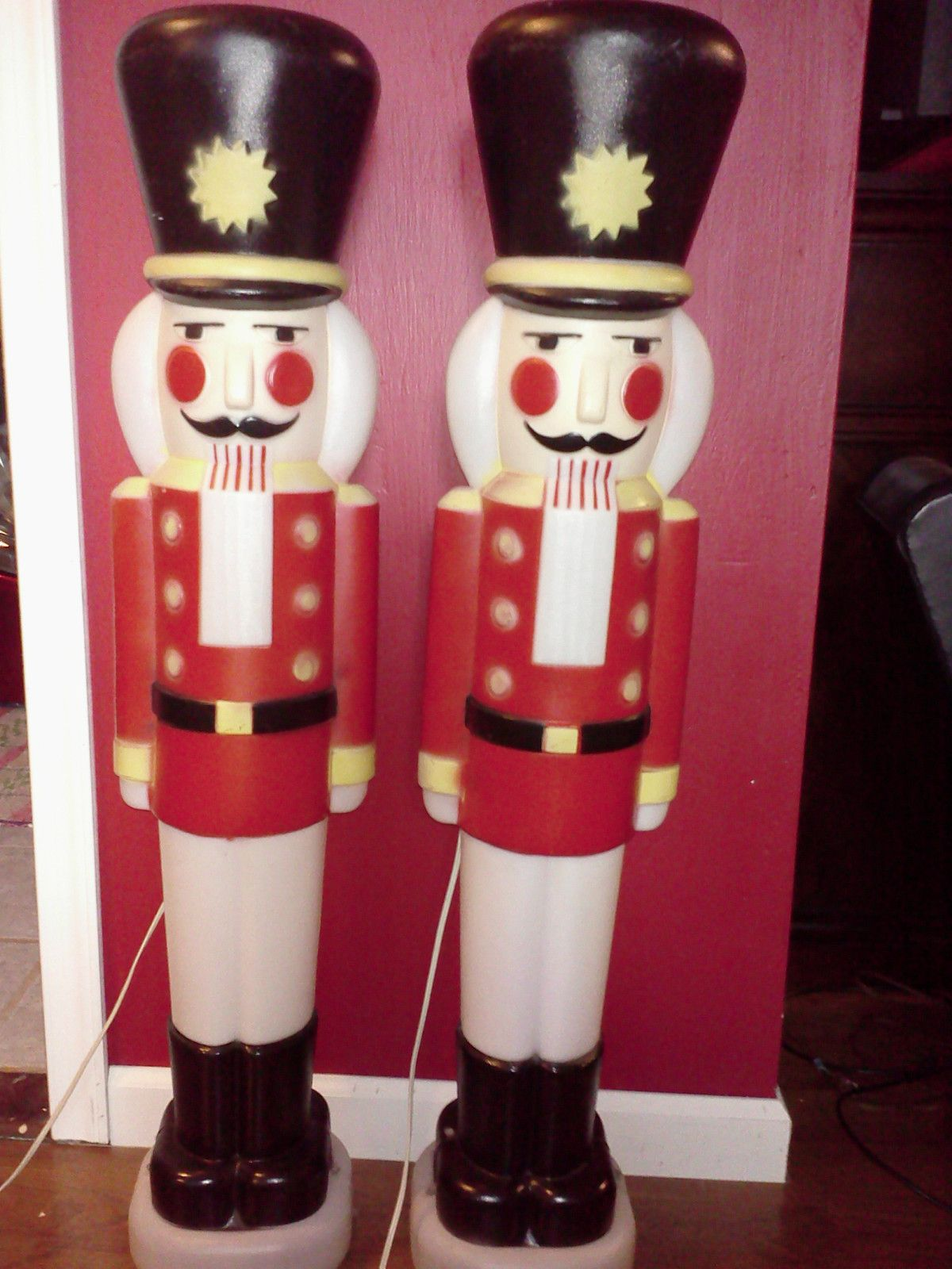 Best 2 Vintage Empire Plastic Christmas Bl*W Mold Nutcrackers This Month
