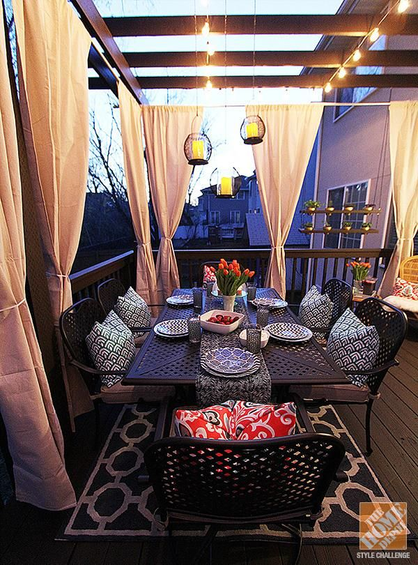 Best Outdoor Curtains Diy'd Hanging Lanterns Lights On The This Month