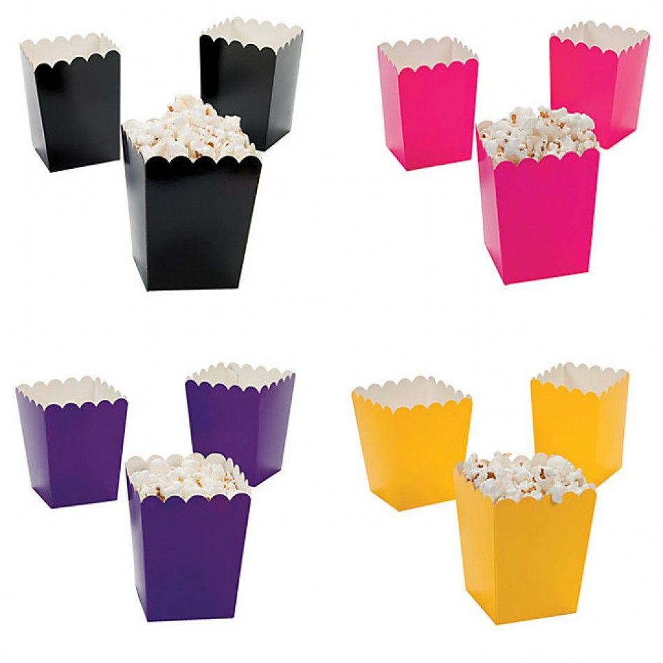 Best Mini Solid Popcorn Boxes 9 Colors Available Set Of 24 This Month
