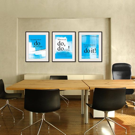 Best Set Of 3Xa3 Walt Disney You Can Do It Quote Poster This Month