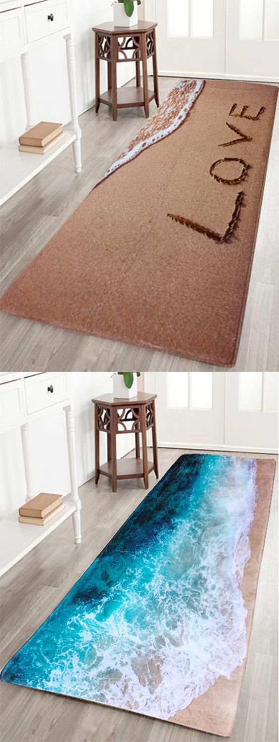 Best Beach Coral Velvet Soft Absorbent Bathroom Rug Rugs This Month