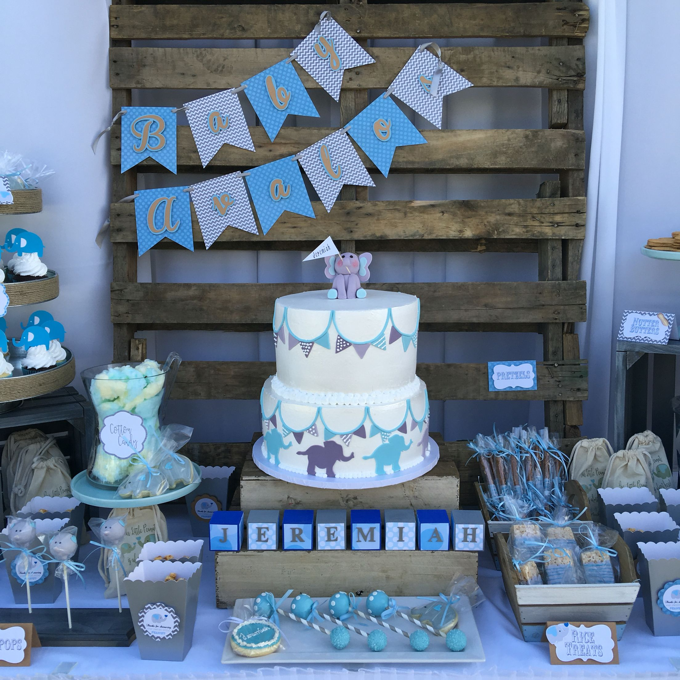 Best Rustic Blue And Gray Elephant Baby Shower Theme Nifty This Month