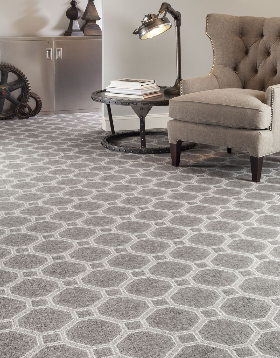Best If Your Style Is More Industrial Patterned Carpet Can Add This Month