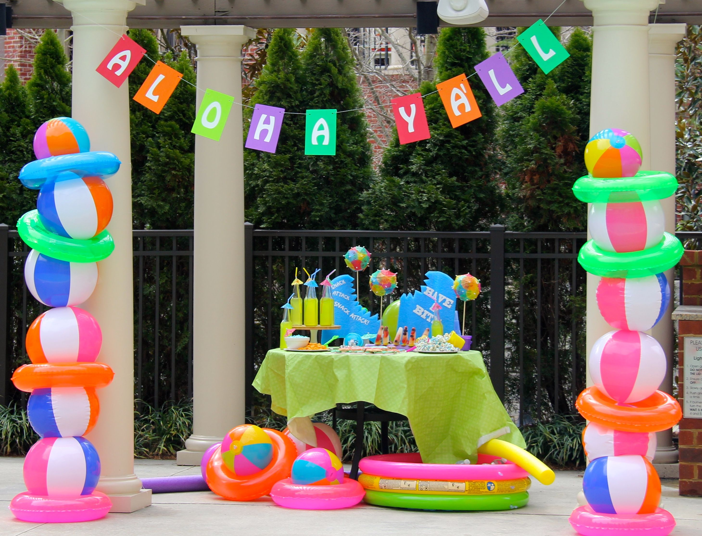 Best Beach Ball Party Decor – Call Us Suzy … Birthday Beach… This Month