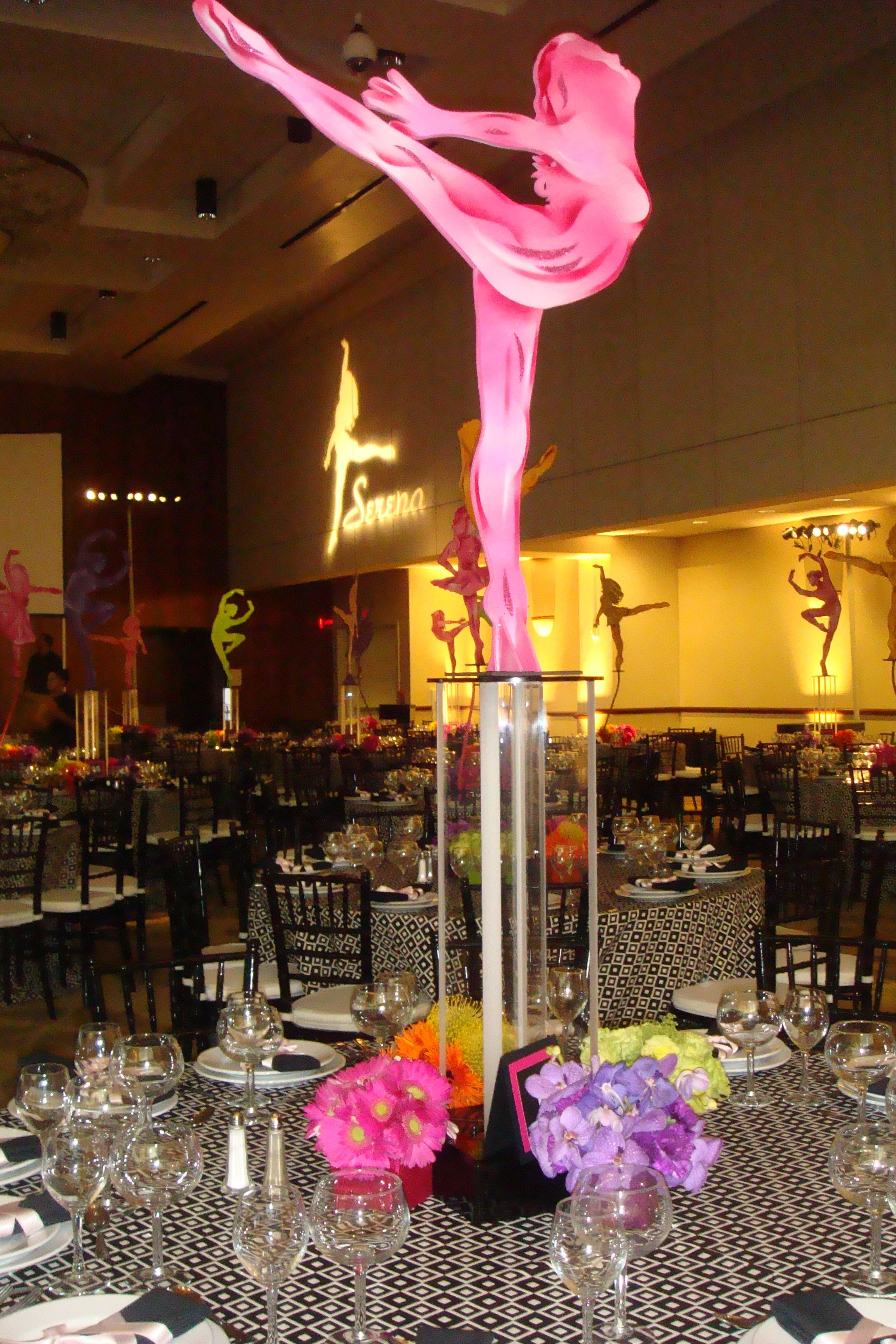 Best Silhouette Of Brittany Centerpieces Brittany Bat Mitzvah This Month