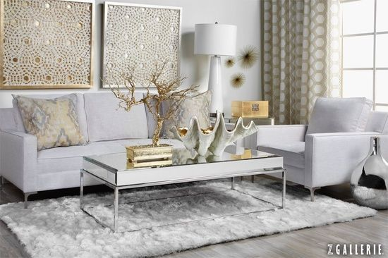 Best Love This Room With Mixed Gold And Silver Metals Grounded By White Home Silver Living Room This Month