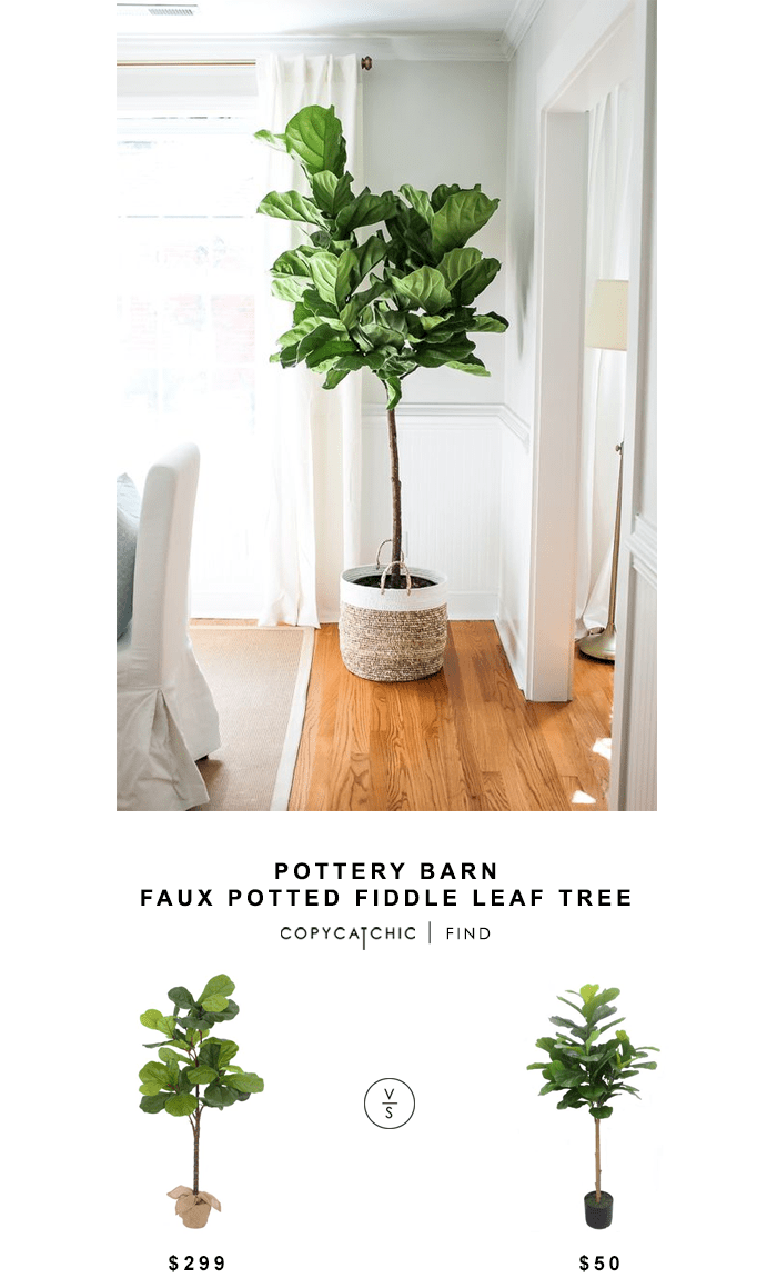 Best Pottery Barn Faux Potted Fiddle Leaf Tree Copy Cat Chic This Month