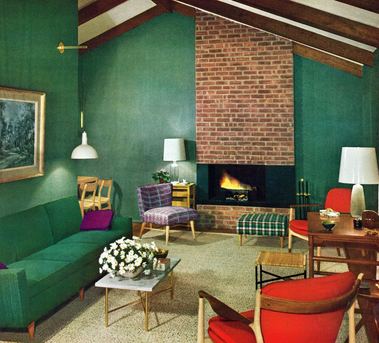 Best Mid Century Living Room 1954 I Remember This And Think It This Month
