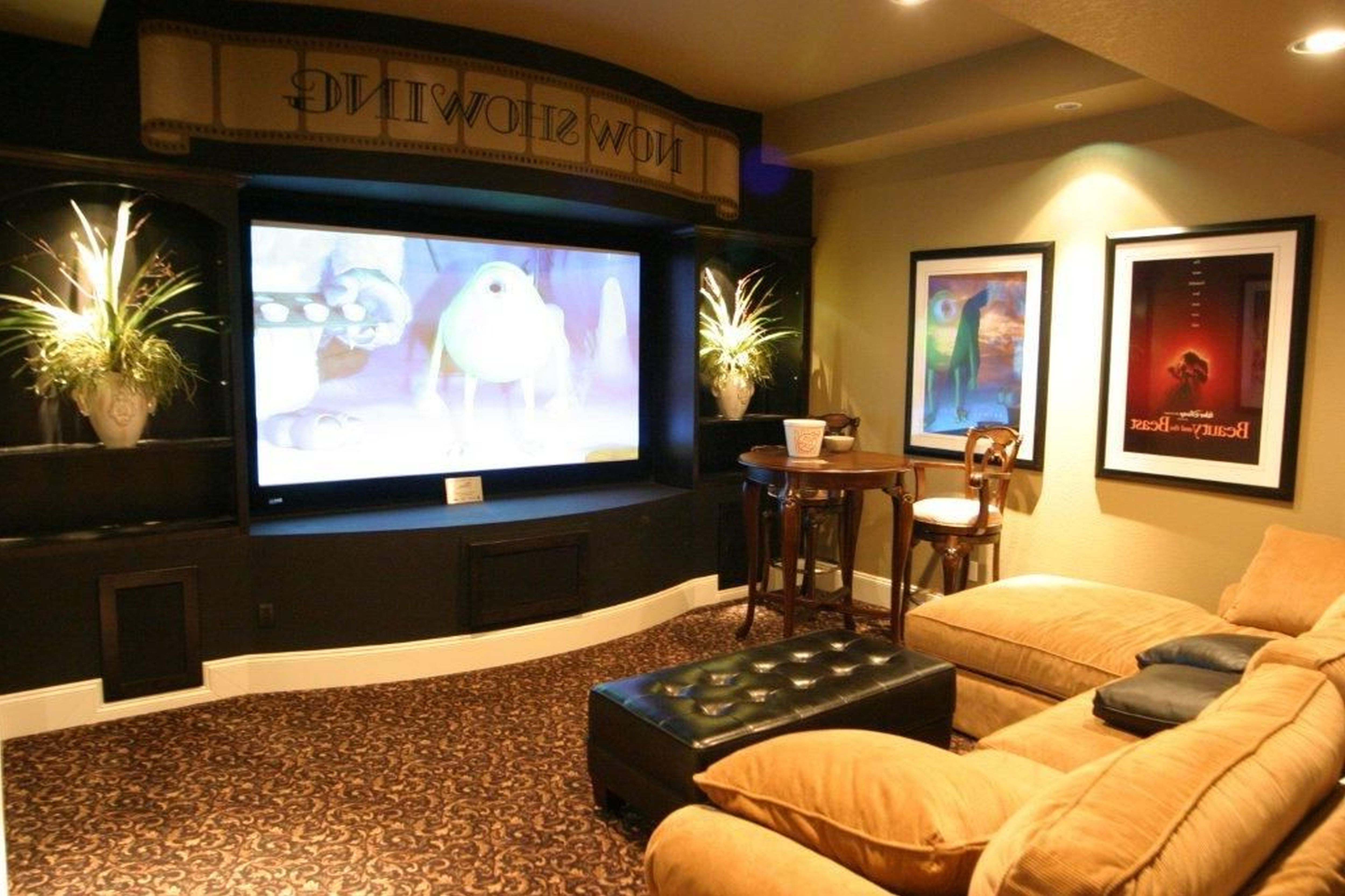 Best Media Room Using Basement Decorating Ideas Basement Ideas This Month