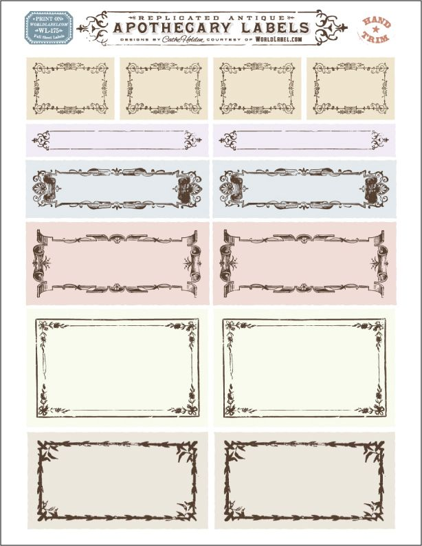 Best Free Replicated Antique Ornate Blank Apothecary Labels For This Month
